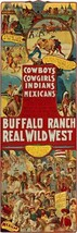 Cowboys, Cowgirls, Indians  by Anonymous Vintage Western Poster 12 x 36 Canvas - $159.39