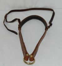 Courts Saddlery 14022 Lined Leather Dark Brown Noseband image 1