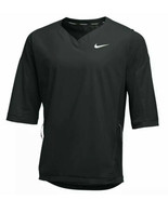 Nike Baseball Men's Black Sz L 3/4 Sleeve Batting Cage V-Neck Pullover J... - $39.10