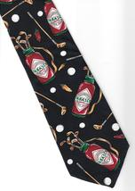 Tabasco Pepper Sauce Neck Tie blue silk Golf Bag Clubs Ball logo novelty N3 - $21.77