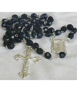Black beads rosary from the Holy Land - $25.00