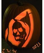 Large Hand-carved Grim Reaper Halloween Foam Jack-o-lantern - $29.99