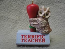 Hallmark Teacher Keepsake Ornament Owl 1991 MIB - $7.00