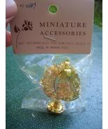 Miniature Dollhouse Decorative Gold Metal Lamp NIP   - $7.00