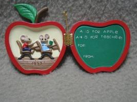Hallmark Teacher Keepsake Ornament Mice 1993 MIB - $7.00