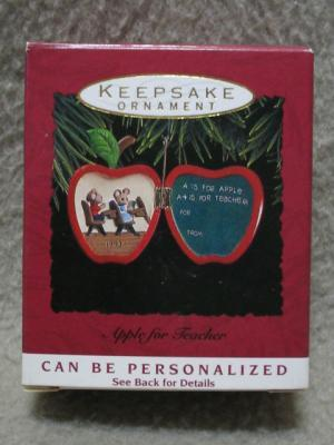 Hallmark Teacher Keepsake Ornament Mice 1993 MIB