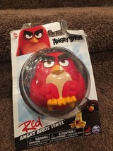 Rovio Spin Master Angry Birds Ball Figure Vinyl Red - Bounce, Squeeze, Throw Toy - $11.50