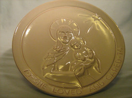 [Y7/Z185] Frankoma Christmas Plate 1974 She Loved And Cared - $4.78