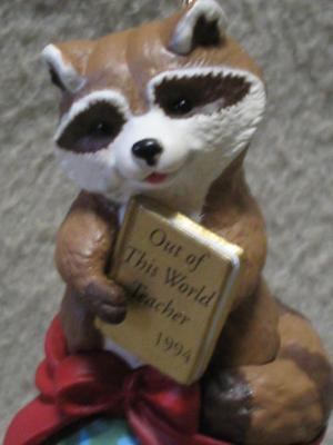 Hallmark Teacher Keepsake Ornament Raccoon 1994 MIB