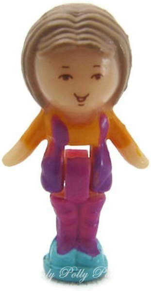 1990 Polly Pocket Doll Lulu in her Necklace - Lulu