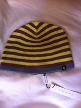 MARC JACOBS yellow, brown, gray stripe hat cap beanie NEW NWT RARE sold out OS! - $89.99