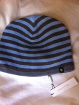 MARC JACOBS blue, gray stripe hat cap beanie NEW NWT RARE sold out 4-leaf clover - $89.99