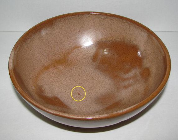 """Frankoma Plainsman 8.5"""" Bowl #224 Brown Satin"""