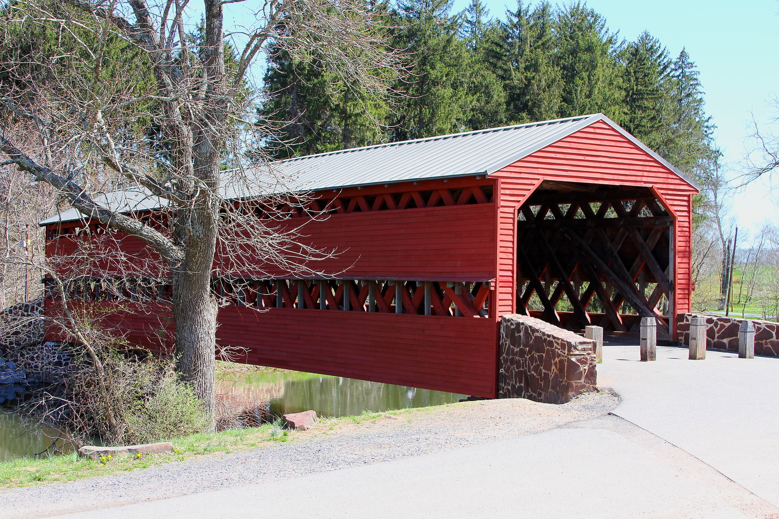 Sach's Covered Bridge 13 x 19 Unmatted Photograph