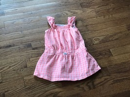 Toddler Girls Carters Coral/Salmon Color Summer Dress Size 5T - $7.69