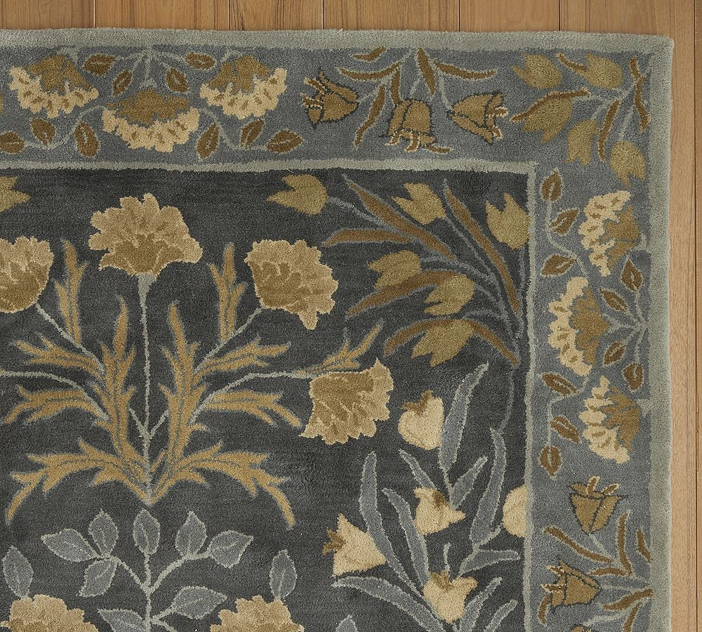 new pottery barn handmade persian adeline blue persian style area rug 5x8 rugs carpets. Black Bedroom Furniture Sets. Home Design Ideas