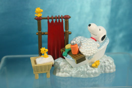 Targa Woodstock Snoopy Premium World Figure Scene Bath Time B - $24.99