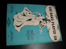 Sheet Music The Band Played On Ward Palmer Chas B Ward Calumet Music 1936 - $8.99