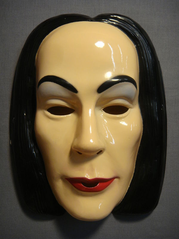 THE ADDAMS FAMILY MORTICIA ADDAMS HALLOWEEN MASK PVC NEW