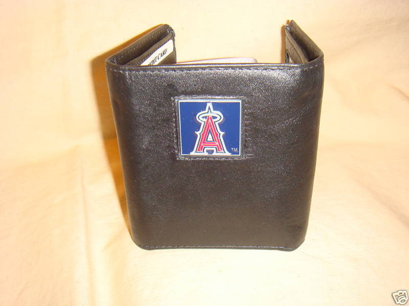 ANAHEIM ANGELS WALLET TRIFOLD LEATHER NFL W/ CASE