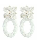 Beaded Earrings Handmade Multicolored Seed Bead Summer Bohemian Tassel D... - $35.55