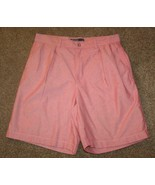 "POLO RALPH LAUREN TYLER Chinos Shorts Waist 32"" Red Khakis Pleated Mens - $17.35"