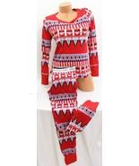 Victorias Secret Fireside Thermal Pajama Set, Red Fairisle - $44.50+
