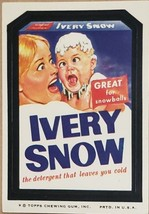 1974/ 6th S TOPPS WACKY sticker Ivery Snow Detergent  Great For Snowballs  - $1.95