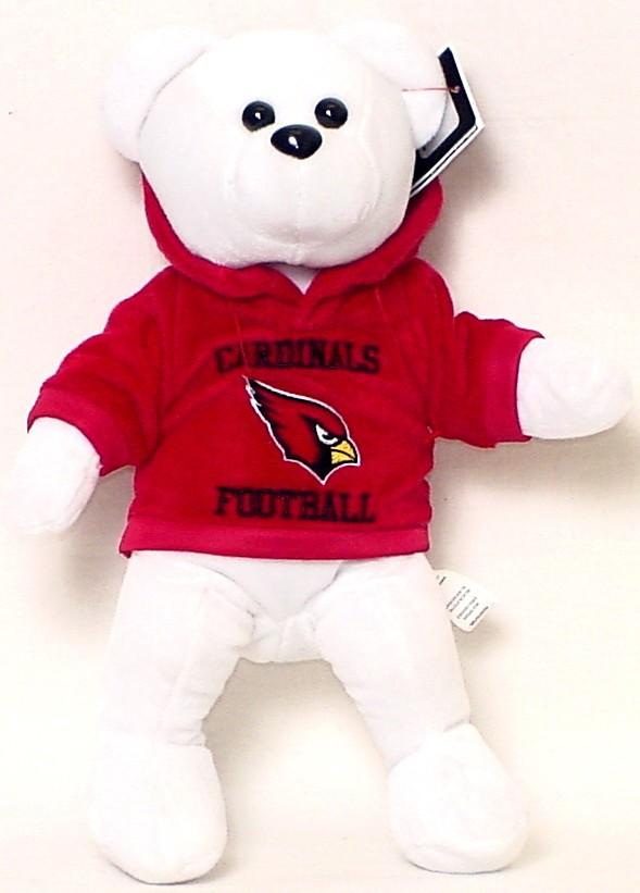 "ARIZONA CARDINALS 14"" PLUSH HOODIE TEDDY BEAR NEW NFL FOOTBALL"