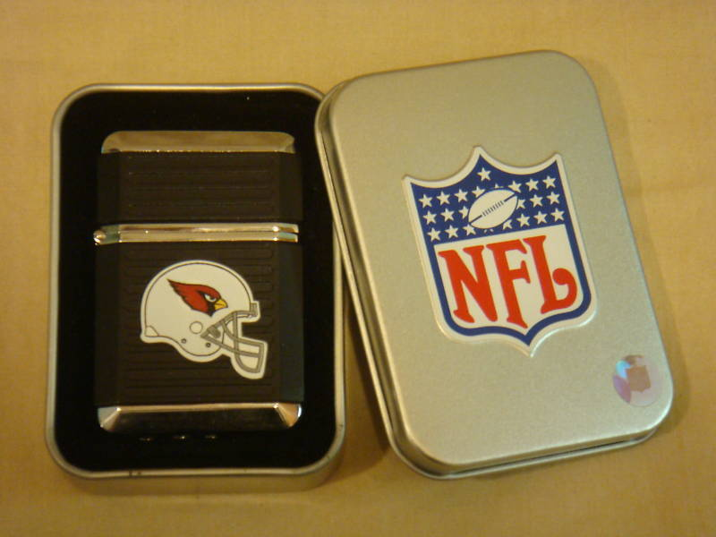 ARIZONA CARDINALS BLACK TORCH LIGHTER W/ CASE NFL NEW