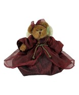 Bearington Bear Gloria in a Mauve Dress with Angel Wings  - $18.70