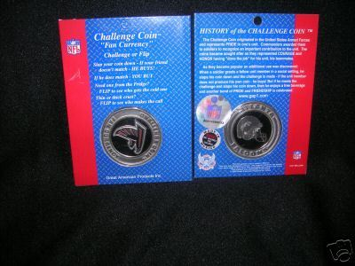 ATLANTA FALCONS CHALLENGE COIN FAN CURRENCY NFL NEW