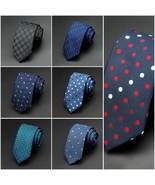 6cm Slim Men Ties Classic Man Fashion Tie Gravata Business Dot Necktie J... - $7.99
