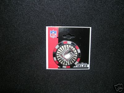 ATLANTA FALCONS PIN POKER CHIP STYLE  PIN  NFL