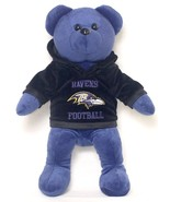 "BALTIMORE RAVENS 14"" PLUSH HOODIE TEDDY BEAR NEW NFL FOOTBALL  - $14.95"