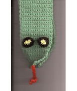Crochet Green Snake Toddler Scarf 2 to 4 years - $7.50