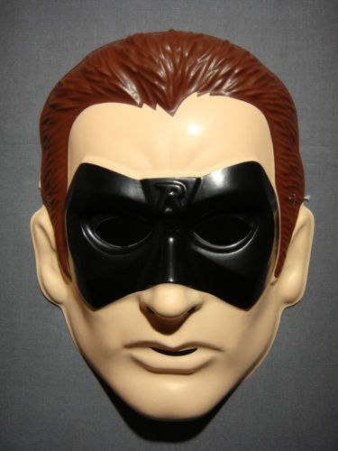 BATMAN & ROBIN - ROBIN -  PVC HALLOWEEN MASK NEW HTF