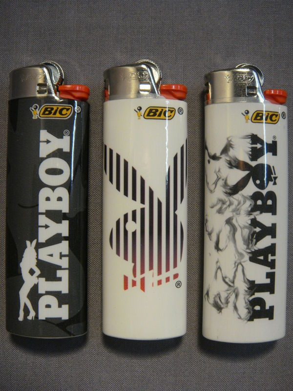 BLACK AND WHITE PLAYBOY BUNNY THEMED CIGARETTE LIGHTERS SET OF 3 NEW