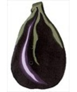 "Large Eggplant 2305L handmade clay button .75"" ... - $2.50"