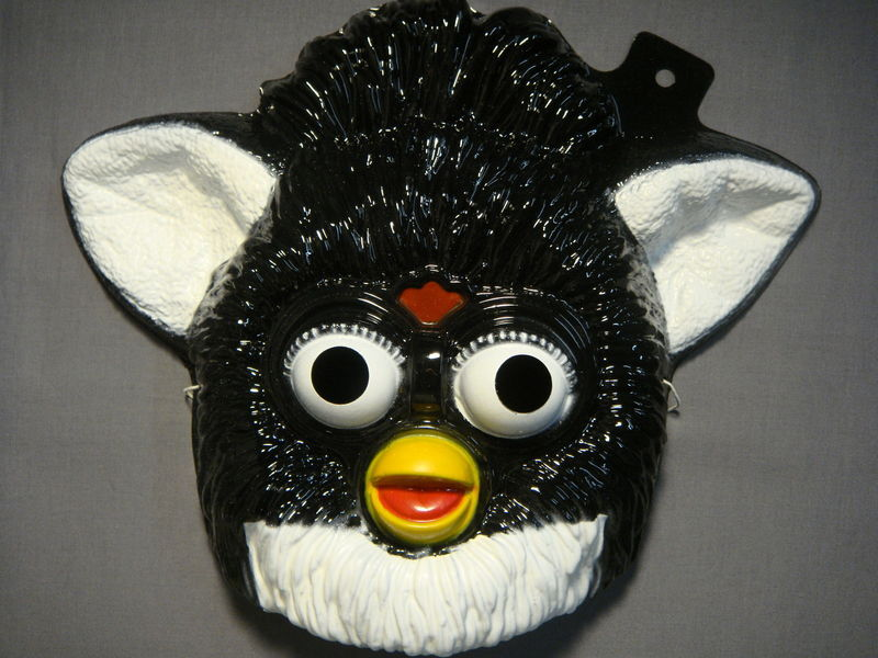 BLACK FURBY HALLOWEEN MASK PVC NEW