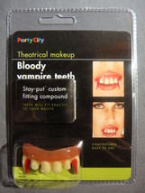 BLOODY VAMPIRE TEETH HALLOWEEN COSTUME ACCESSORY NEW - $3.95