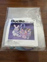 NEW Bucilla Easter Bunny Basket Kit 6106 Plastic Canvas Vintage 1992 New Sealed - $18.69