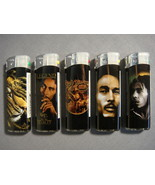 BOB MARLEY COLOR CHANGING LIGHTERS SET OF 5 NEW - A - $9.95
