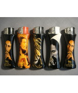 BOB MARLEY NULITE CURVE REFILLABLE CIGARETTE LIGHTERS SET OF 5 NEW - B - $9.95