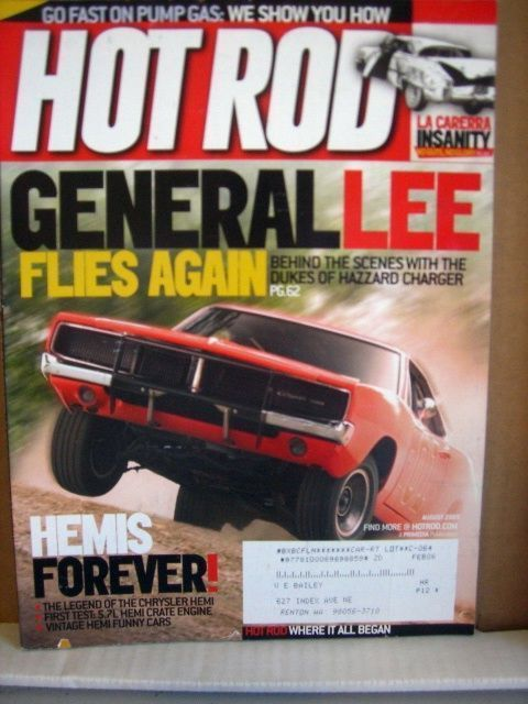 Primary image for Hot Rod Magazine August 2005 General lee Flies Again, Hemis Forever