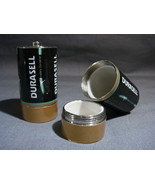 C BATTERY SECRET SAFE CAN STASH YOUR ITEMS PILL BOX X2 - $10.95
