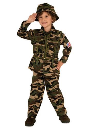 CAMO COMMANDo ARMY COSTUME CHILD SIZE 2-4 TODDLER