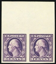 484, 3¢ Mint Superb NH Top Margin Pair of Stamps - Stuart Katz - $45.00
