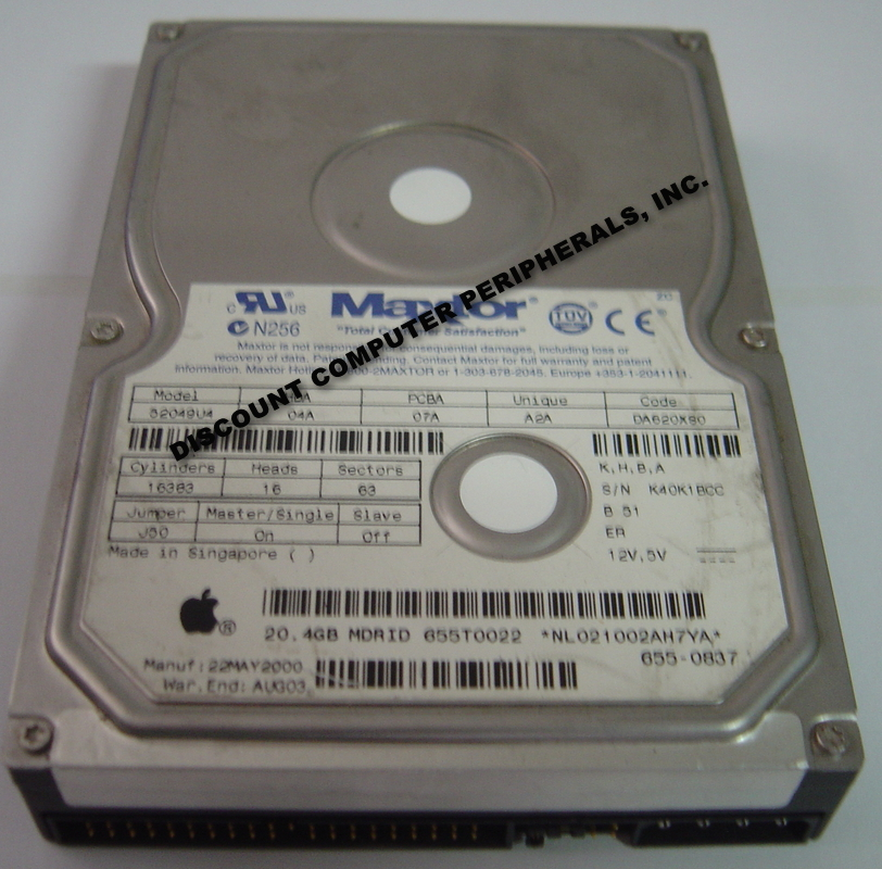 "Maxtor 52049U4 20GB 3.5"" IDE 40PIN Hard Drive"