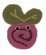 """Small Mauve Swirly Bud 2307s handmade clay button .75"""" JABC Just Another... - $2.00"""